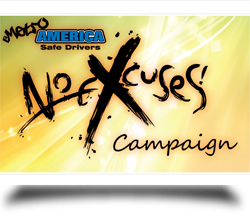 No excuse campaign logo